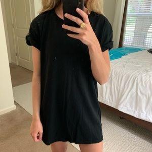 H&M Black Short Sleeve T Shirt Dress
